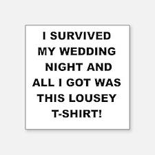 I SURVIVED MY WEDDING NIGHT Sticker