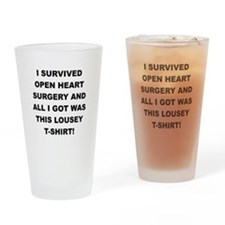 I SURVIVED HEART SURGERY Drinking Glass