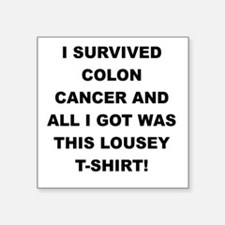 I SURVIVED COLON CANCER Sticker
