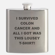 I SURVIVED COLON CANCER Flask