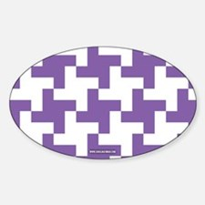 Retro Houndstooth Vintage Purple Decal