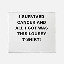 I SURVIVED CANCER Throw Blanket