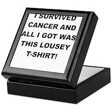 I SURVIVED CANCER Keepsake Box