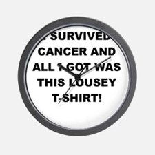 I SURVIVED CANCER Wall Clock