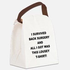 I SURVIVED BACK SURGERY Canvas Lunch Bag