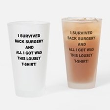 I SURVIVED BACK SURGERY Drinking Glass