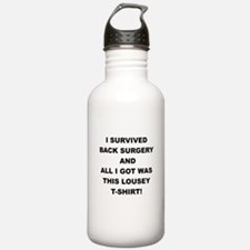 I SURVIVED BACK SURGERY Water Bottle