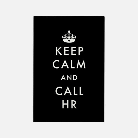 Keep Calm and Call HR Rectangle Magnet (10 pack)