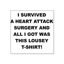 I SURVIVED A HEART ATTACK Sticker
