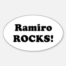 Ramiro Rocks! Oval Decal