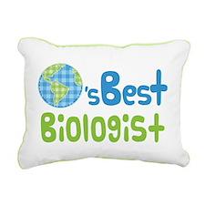 Earths Best Biologist Rectangular Canvas Pillow