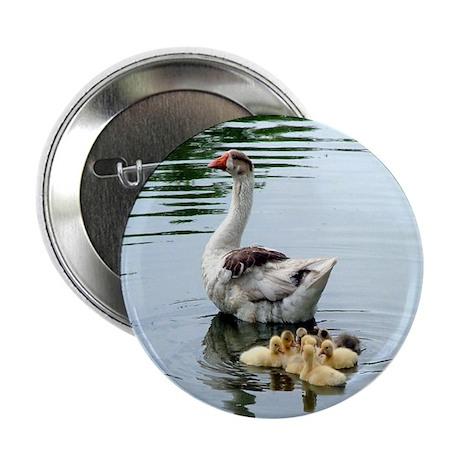 "Enjoy love from mom animals ducks swa 2.25"" Button"
