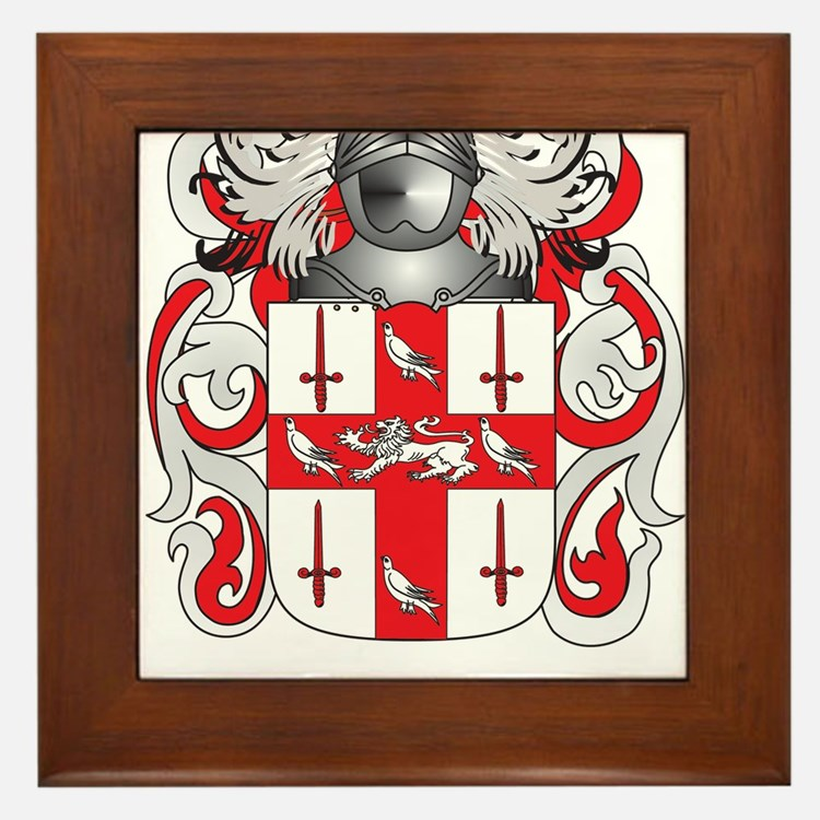 Nolan Coat of Arms (Family Crest) Framed Tile