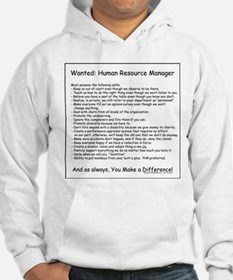 Wanted: HR Manager Hoodie