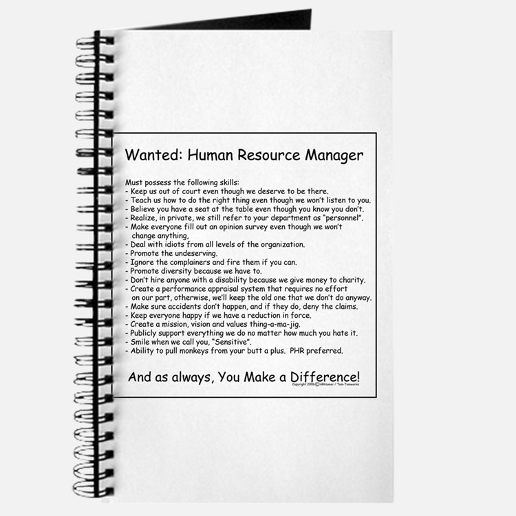 Wanted: HR Manager Journal