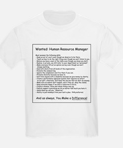 Wanted: HR Manager Kids T-Shirt