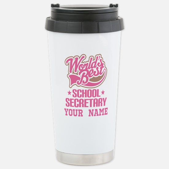 School Secretary Personalized Travel Mug