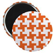 Reto Houndstooth Vintage Orange Magnets