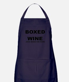 BOXED WINE JUICE BOXES FOR MOM Apron (dark)