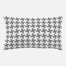 Grey Retro Houndstooth Pillow Case