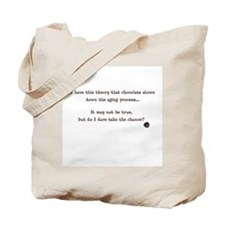 Chocolate and aging Tote Bag