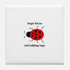 Ladybug with Angel kisses and ladybug hugs Tile Co