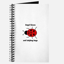 Ladybug with Angel kisses and ladybug hugs Journal