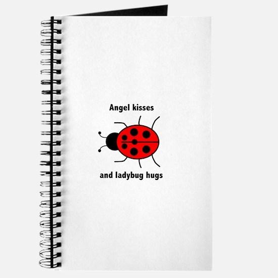 Ladybug with Angel kisses and ladybug hugs Journal