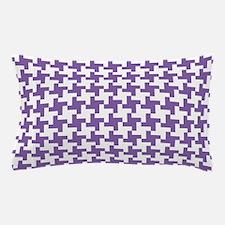 Retro Houndstooth Vintage Purple Pillow Case
