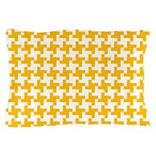 Retro Houndstooth Vintage Yellow Pillow Case
