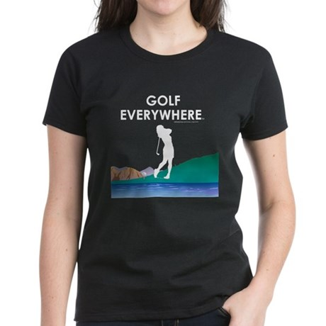 Golf Everywhere Women's Dark T-Shirt