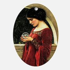 Crystal Ball Waterhouse Ornament (Oval)