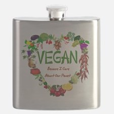 Vegan Heart Flask