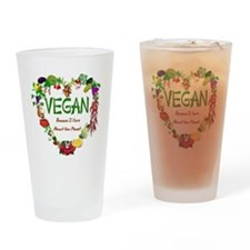 Vegan Heart Drinking Glass