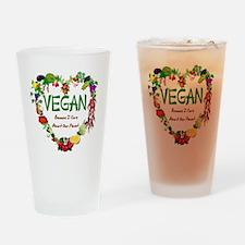 Vegan Heart Drinking Glass