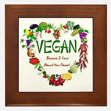 Vegan Heart Framed Tile