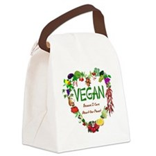 Vegan Heart Canvas Lunch Bag
