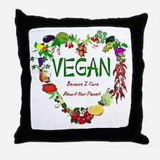 Vegan Heart Throw Pillow