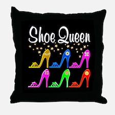 SHOE QUEEN Throw Pillow