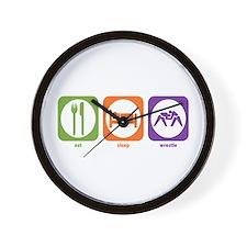 Eat Sleep Wrestle Wall Clock