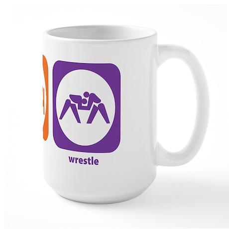 Eat Sleep Wrestle Large Mug
