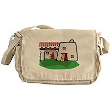Cartoon Adobe House Messenger Bag