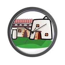Cartoon Adobe House Wall Clock