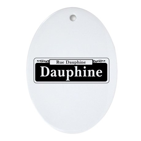 Dauphine St., New Orleans Ornament (Oval)