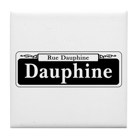 Dauphine St., New Orleans - USA Tile Coaster
