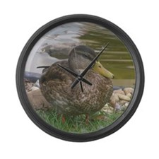 the duck Large Wall Clock