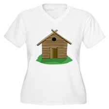 Log Cabin Plus Size T-Shirt