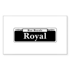 Royal St., New Orleans - USA Rectangle Decal