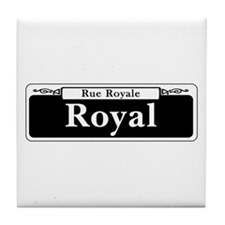 Royal St., New Orleans - USA Tile Coaster