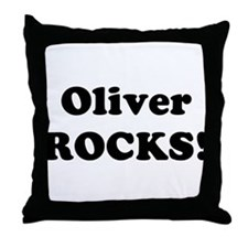 Oliver Rocks! Throw Pillow